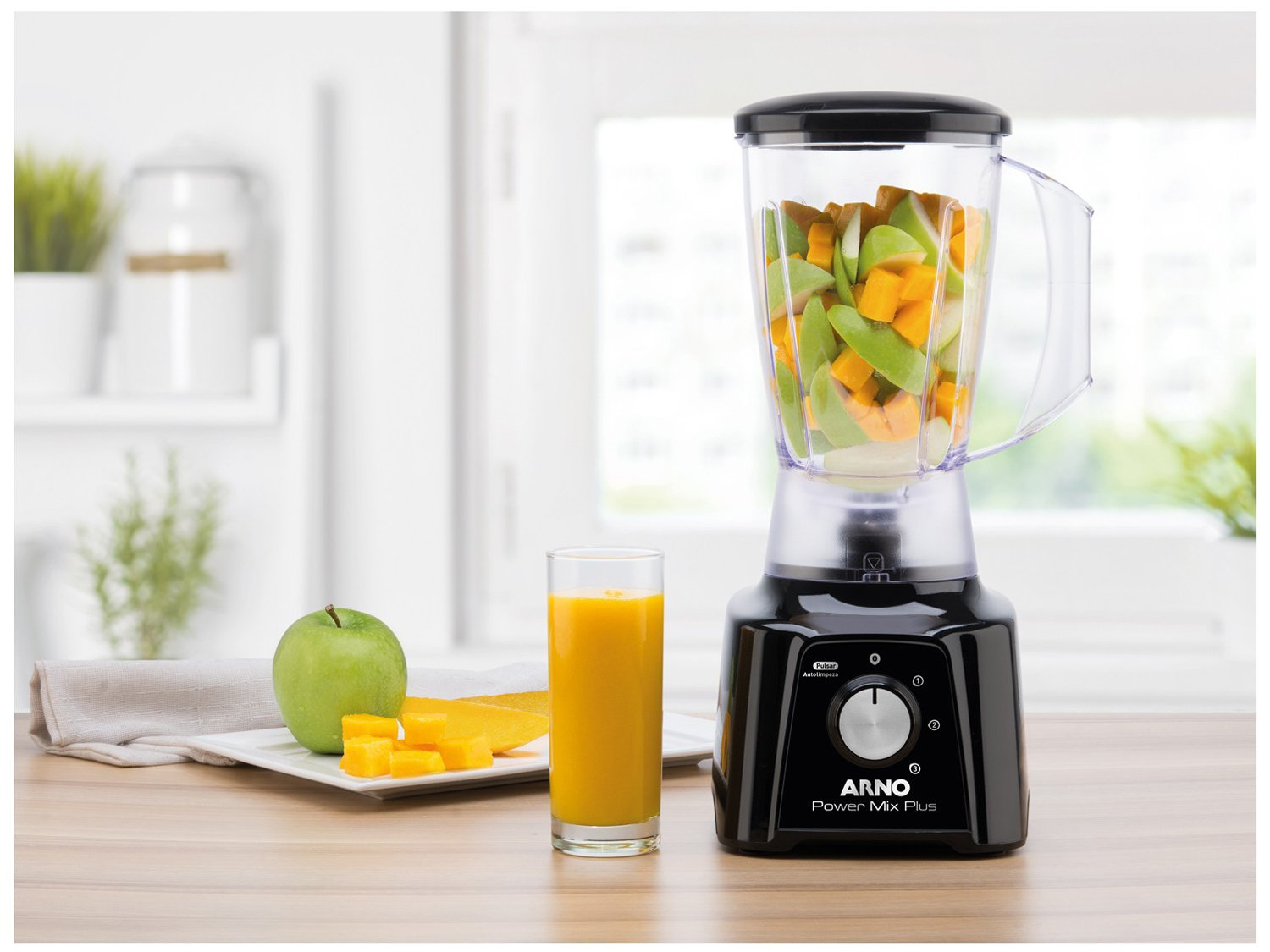 Liquidificador Arno Power Mix Plus LQ20 com 3 Velocidades 550W – Preto - 110V - 12
