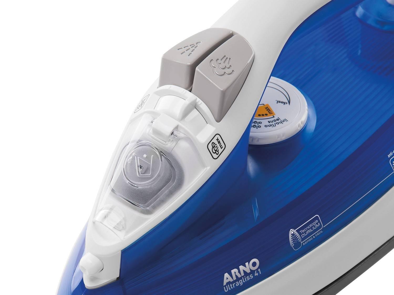 Foto 5 - Ferro de Passar a Vapor e a Seco Arno - Ultragliss 41 Branco e Azul