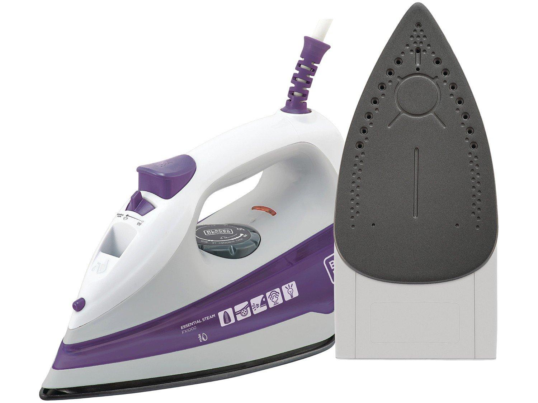 Ferro a Vapor Black+Decker FX100 com Spray – Branco/Roxo - 110V