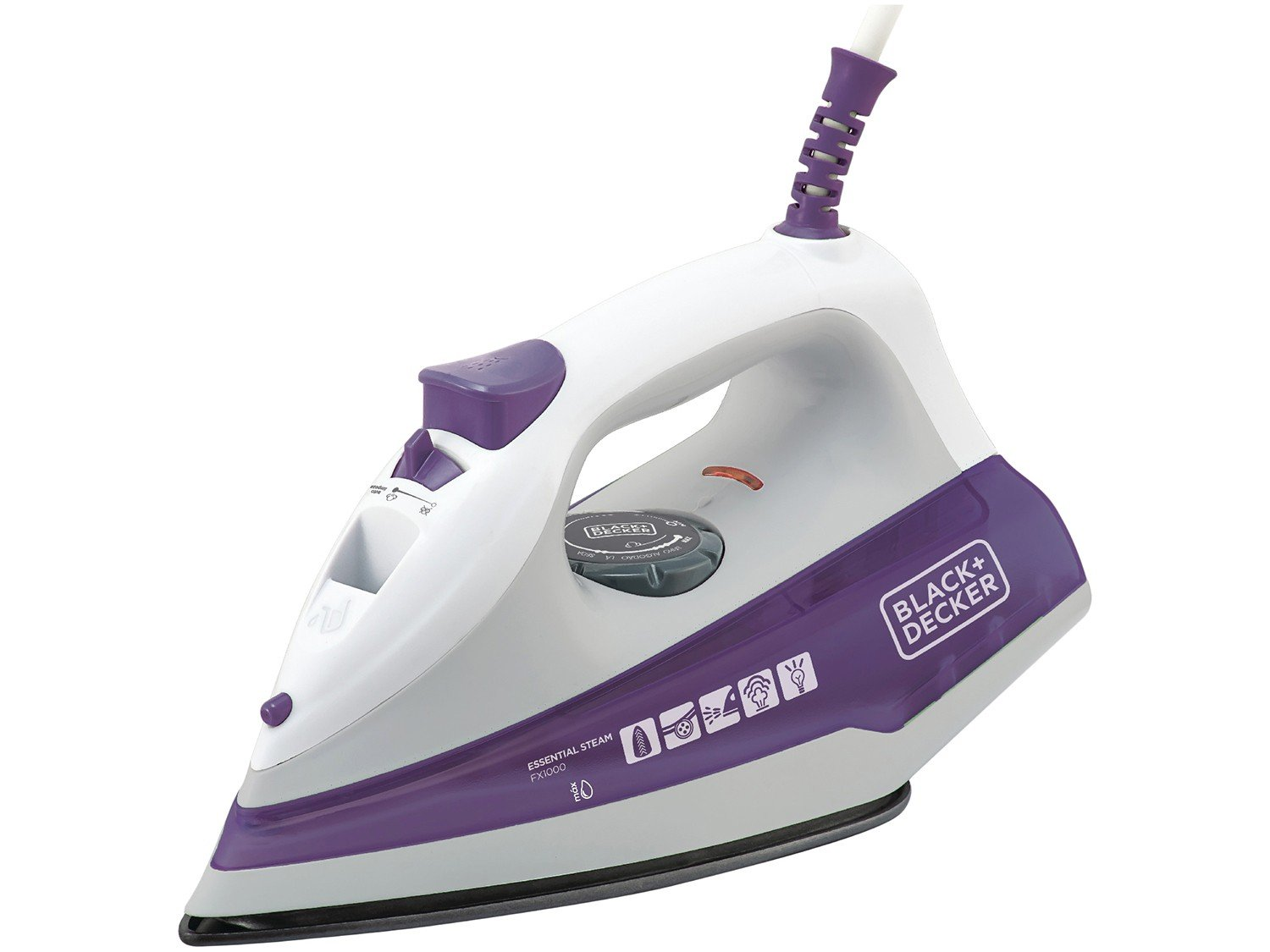 Ferro a Vapor Black+Decker FX100 com Spray – Branco/Roxo - 220V - 4