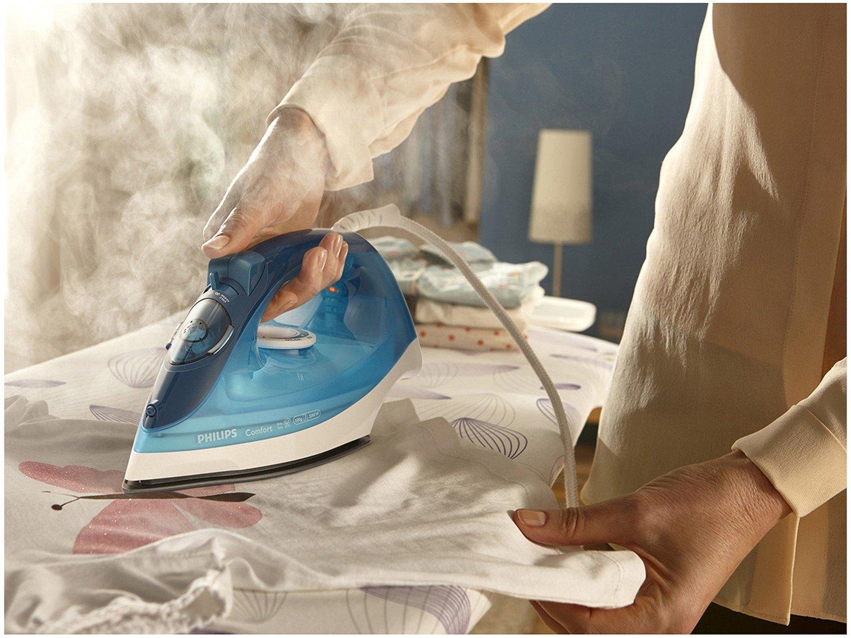 Ferro de Passar Roupa a Vapor Philips Walita - Comfort Cerâmica Azul - 110 V - 1