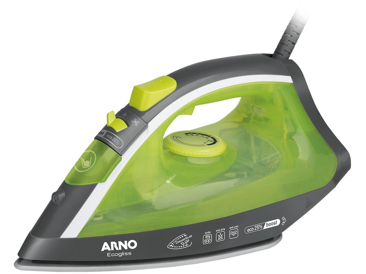 Ferro de Passar a Vapor Arno Ecogliss FEC1 com Spray - Verde - 110V - 4