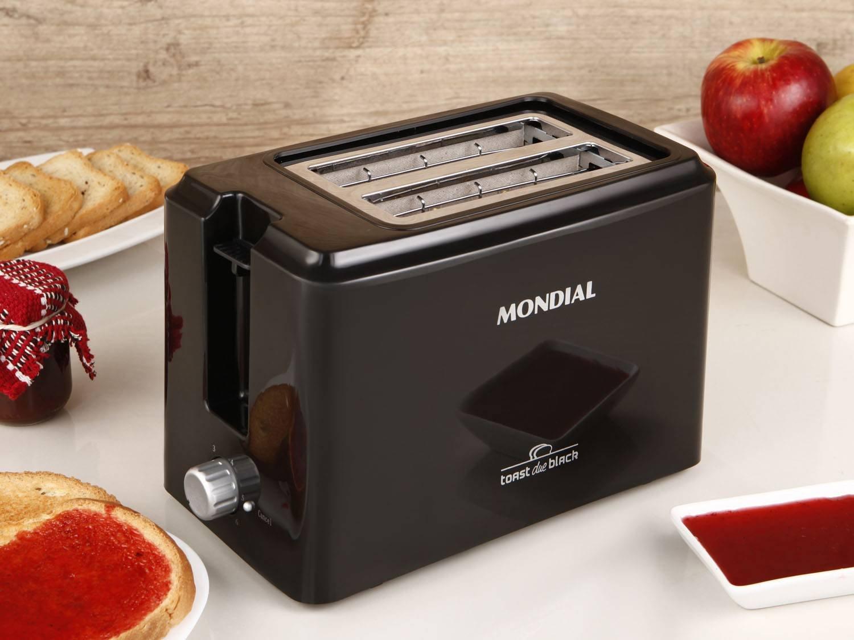 Torradeira Toast Due Black Mondial T-05 com 6 Opções de Tostagem - Preta - 110V - 2