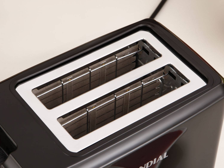 Torradeira Toast Due Black Mondial T-05 com 6 Opções de Tostagem - Preta - 110V - 4
