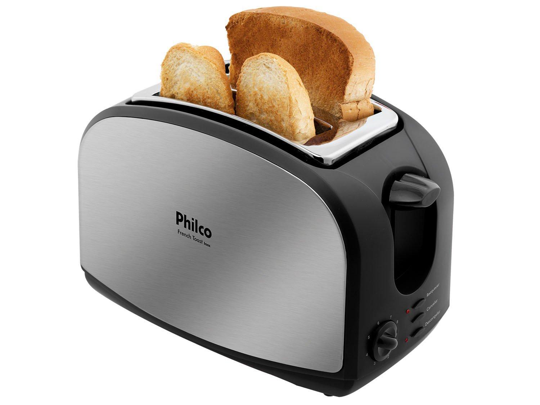 Torradeira French Toast Philco com 8 Níveis de Tostagem - Inox/Preto - 110v