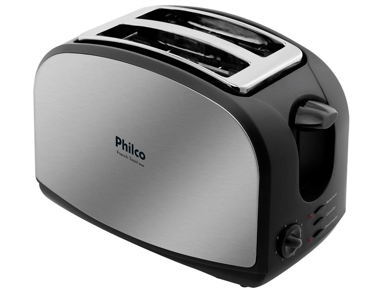 Torradeira French Toast Philco com 8 Níveis de Tostagem - Inox/Preto - 110v - 4