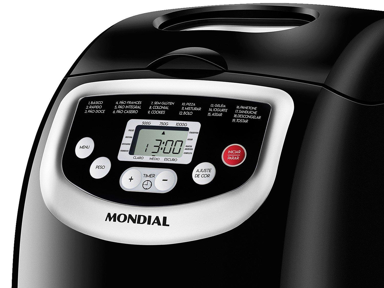 Panificadora Mondial Master Bread NPF-53 Preta - 19 Programas - 220 V - 2