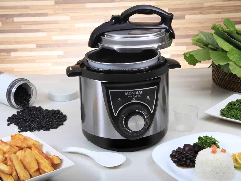 Panela de Pressão Elétrica Mondial PE-26 Pratic Cook Premium 3L - Inox - 110V - 4