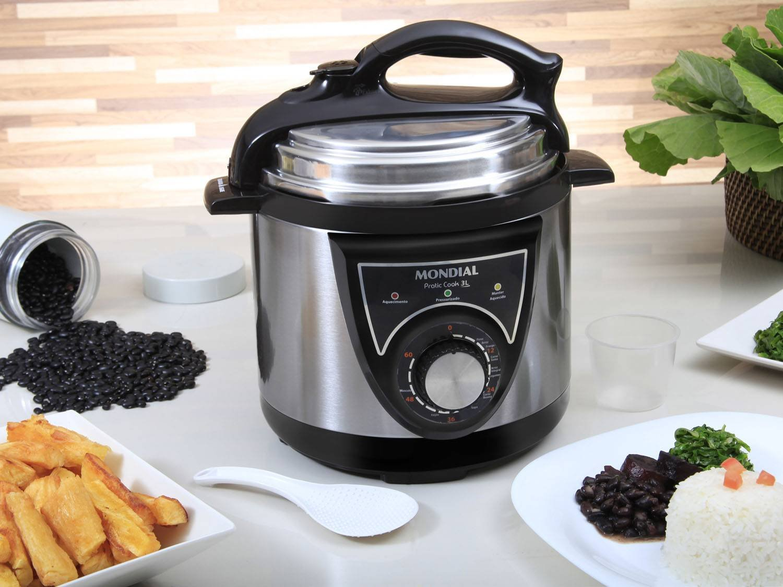 Panela de Pressão Elétrica Mondial PE-26 Pratic Cook Premium 3L - Inox - 110V - 8
