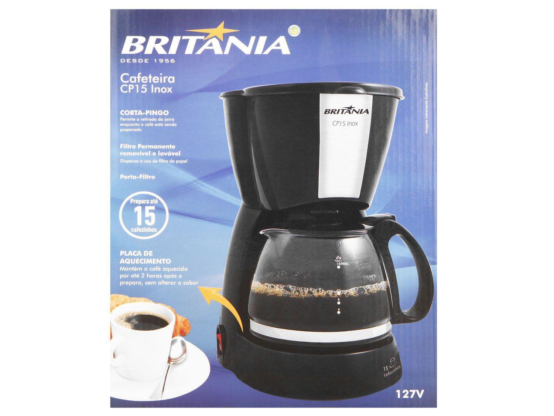 Foto 15 - Cafeteira Elétrica Britânia CP15 Xícaras - Preto e Inox