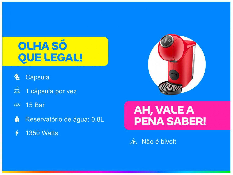 Cafeteira Expresso Arno Nescafé Dolce Gusto - Genio S Basic de Plus 15 Bar Vermelho - 220 V - 1
