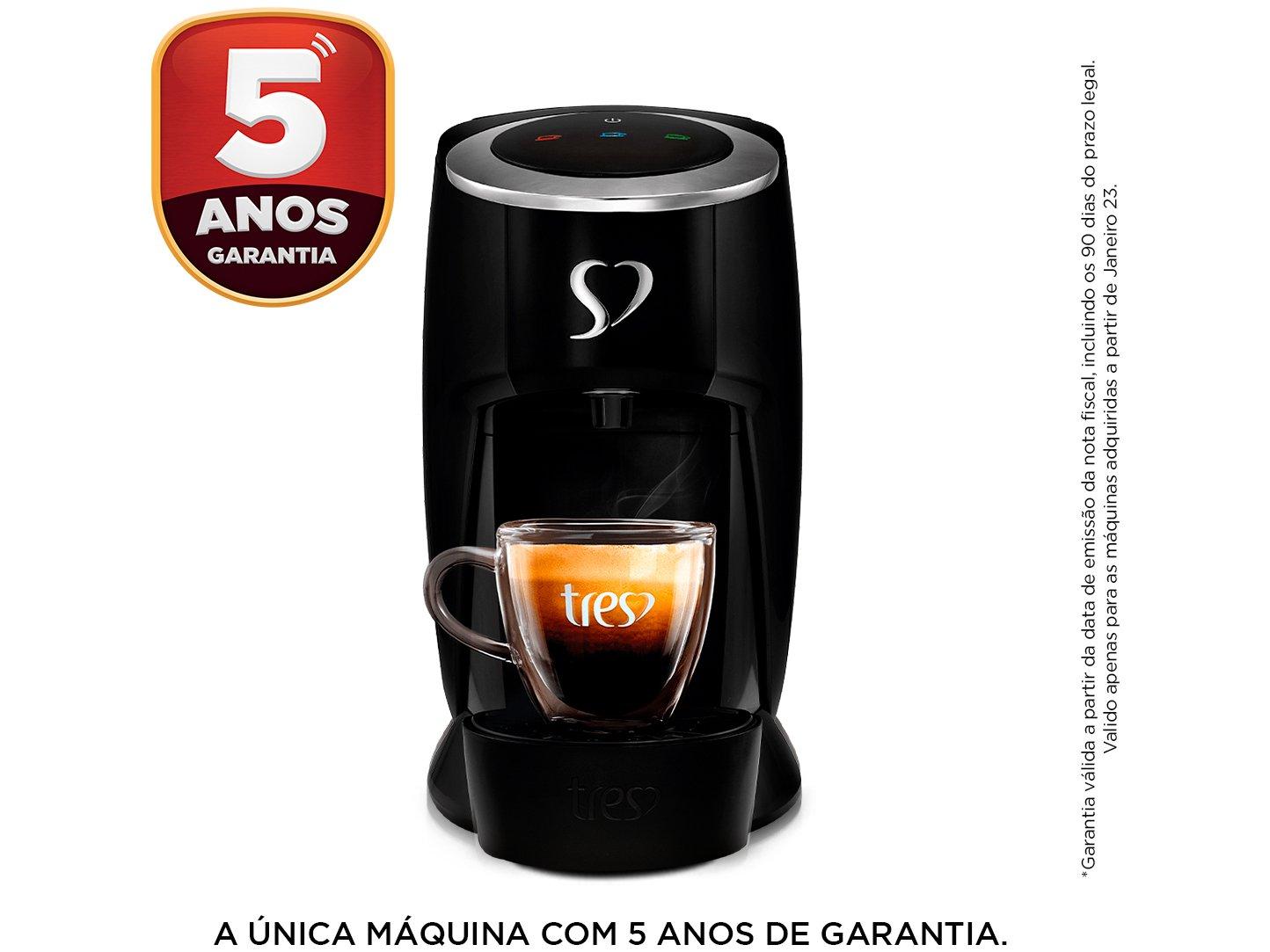Cafeteira Espresso TRES Touch Preta 3 Corações -  - 110 V - 3