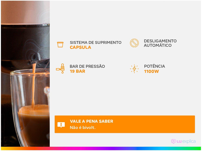 Máquina de Café Nespresso Essenza Mini C30 com Kit Boas Vindas - Preta - 110V - 4