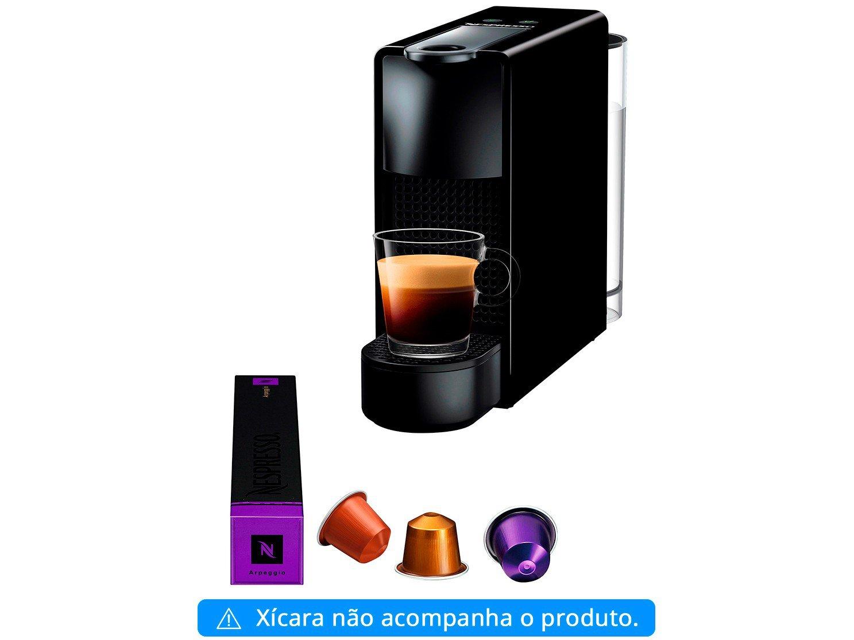 Máquina de Café Nespresso Essenza Mini C30 com Kit Boas Vindas - Preta - 110V - 12