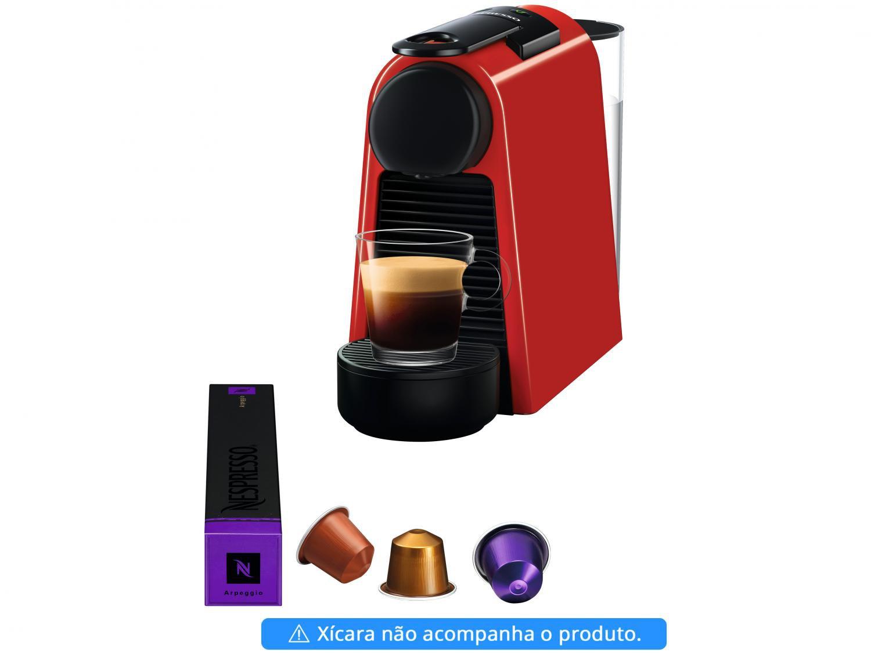 Máquina de Café Nespresso Essenza Mini D30 com Kit Boas Vindas - Vermelha - 110V - 4