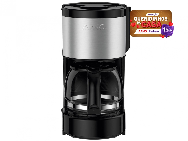 Cafeteira Elétrica Arno Perfectta Inox CFPI 12 Xícaras - Preto - 220V - 3