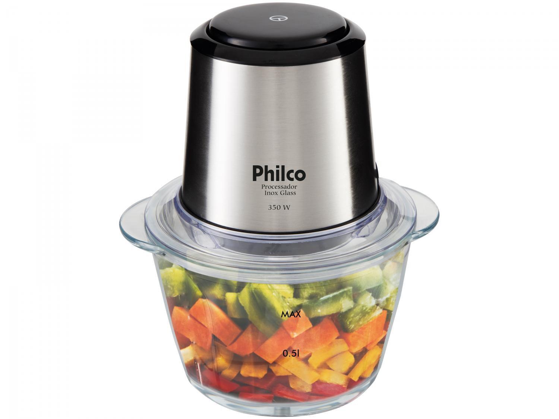 Processador de Alimentos Philco Inox Glass PPS01I com 350W – Preto/Inox - 220V - 1