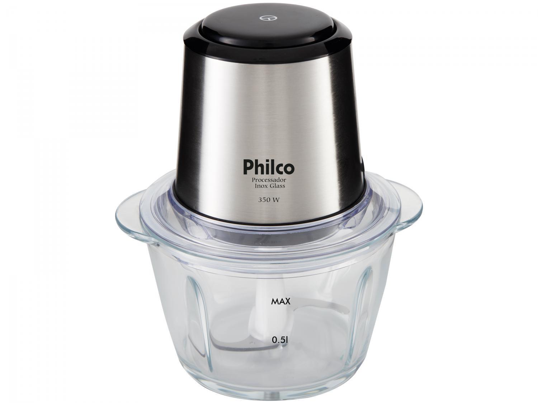 Processador de Alimentos Philco Inox Glass PPS01I com 350W – Preto/Inox - 220V - 3