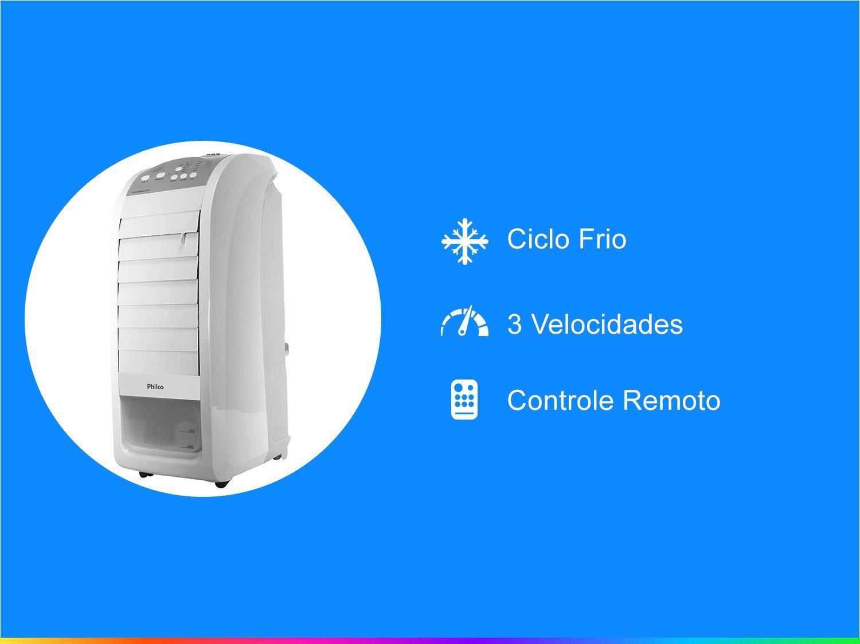 Climatizador de Ar Philco Frio 3 Velocidades - PCL1F - 110 V - 1