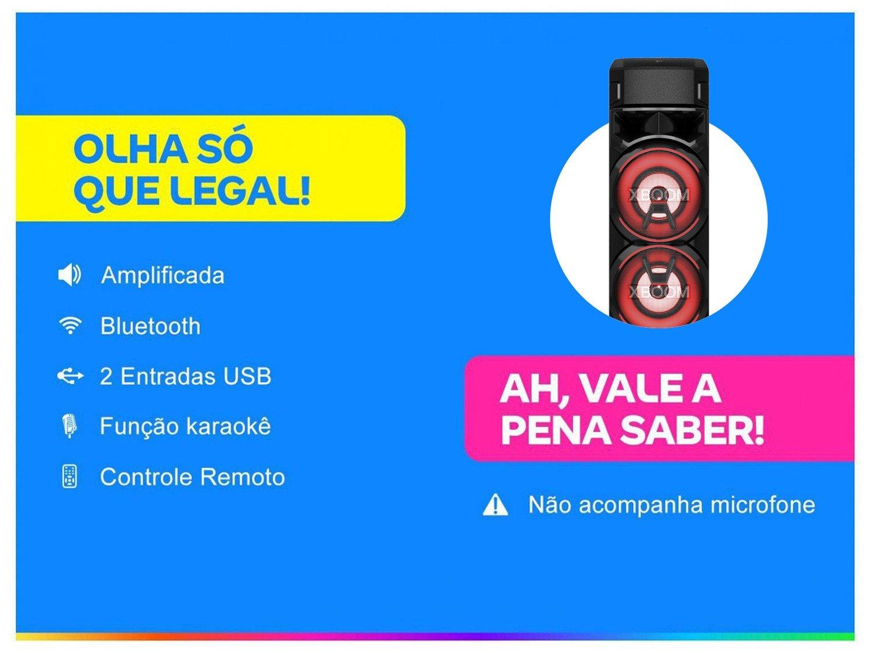 Caixa de Som Acústica LG XBOOM RN9 com Multi Bluetooth, Karaokê, Entrada de Microfone e Guitarra - 3
