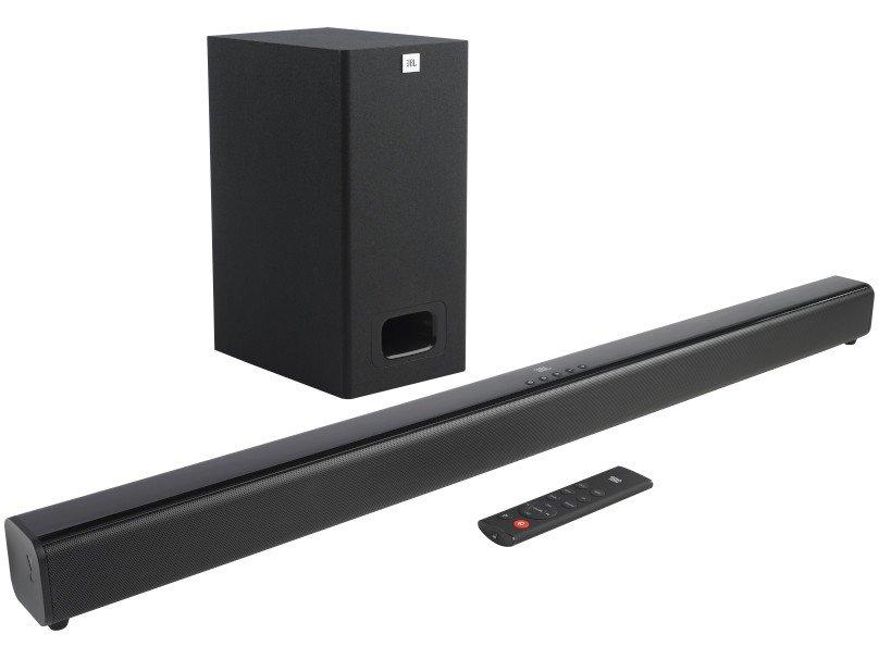 Soundbar JBL Cinema SB130 com 2.1 Canais, Bluetooth, Subwoofer Com Fio e Dolby Digital - 55W - 1