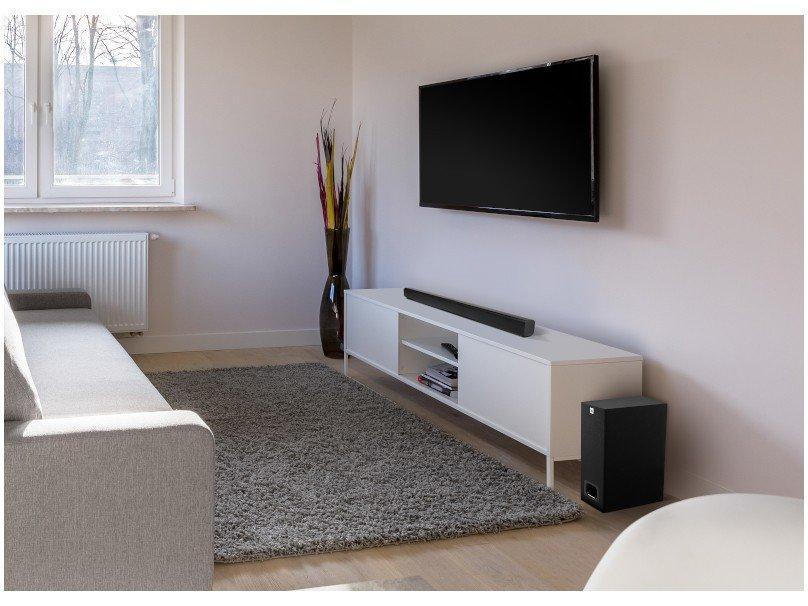Soundbar JBL Cinema SB130 com 2.1 Canais, Bluetooth, Subwoofer Com Fio e Dolby Digital - 55W - 5
