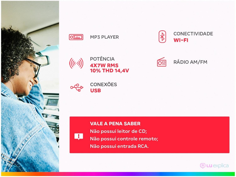 Som Automotivo Pósitron MP3 Player FM - Bluetooth USB SP2230BT - 4
