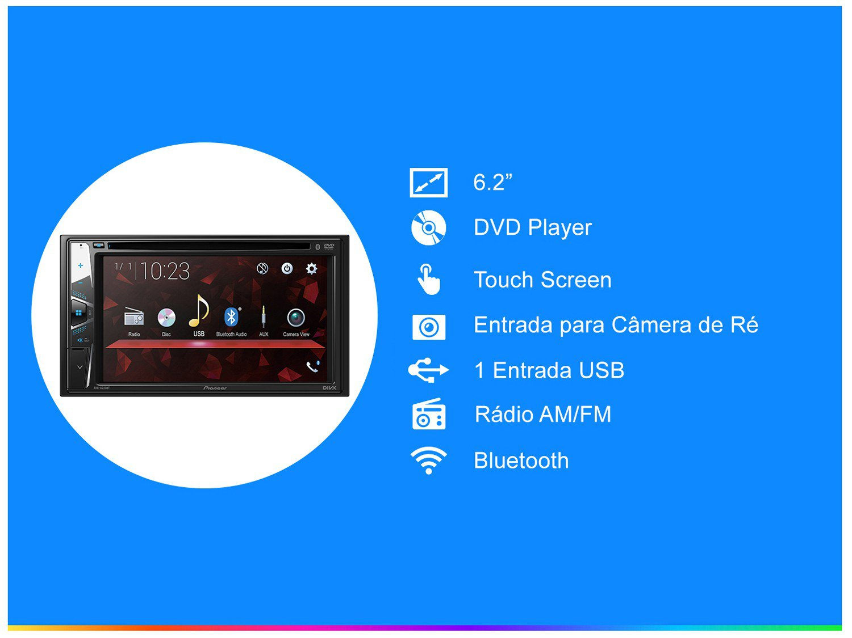 "DVD Automotivo Pioneer AVH-G228BT Bluetooth - Touch 6,2"" 23W RMS USB Auxiliar - 1"
