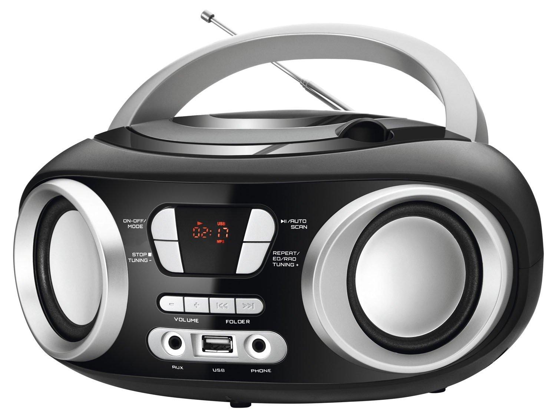 Rádio Portátil Mondial Boom Box NBX-13 Entrada USB Auxiliar Rádio FM – 6W - 1
