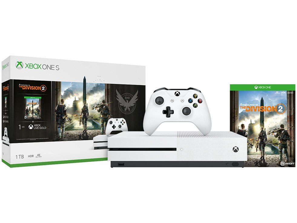 Console Xbox One S 1TB + Jogo The Division 2 (Download via Xbox Live) - 3