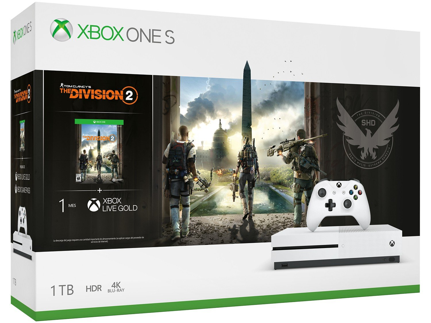 Console Xbox One S 1TB + Jogo The Division 2 (Download via Xbox Live) - 12