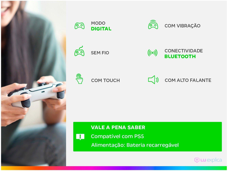 Controle Dualsense PlayStation 5 PS5 -  - 1