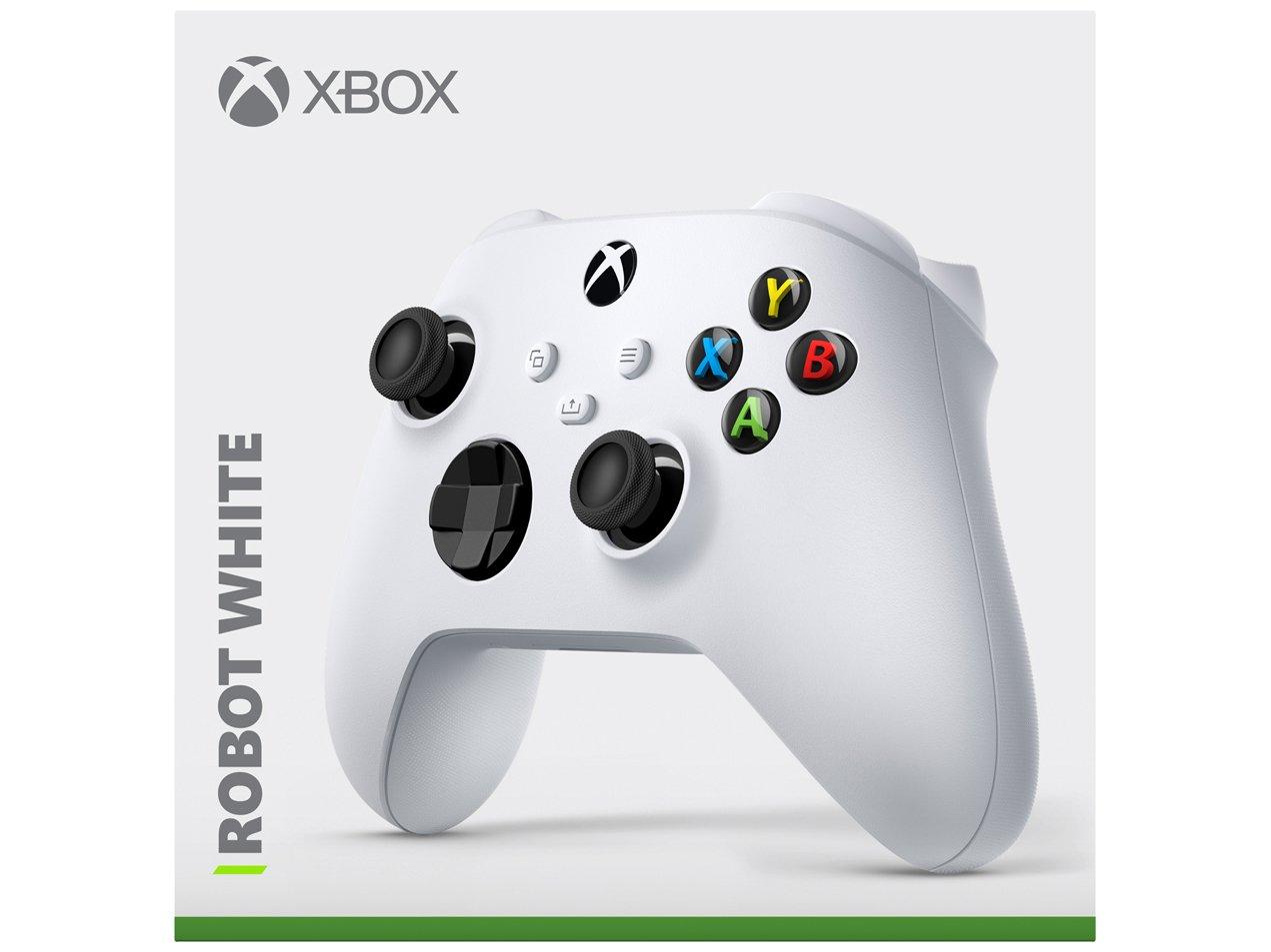 Controle para Xbox Series X Xbox Series S Xbox One X sem Fio Robot White  Branco