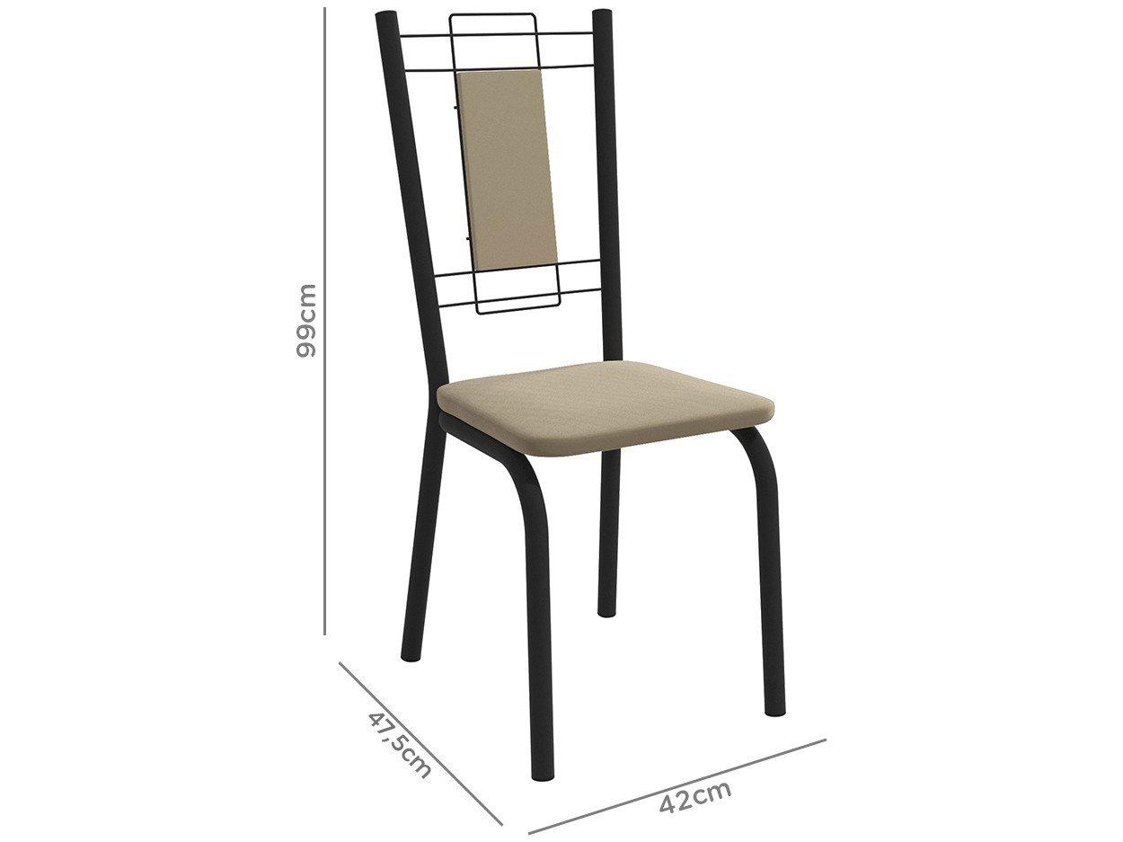 Foto 5 - Mesa de Jantar com 6 Cadeiras Retangular - Móveis Carraro Karina