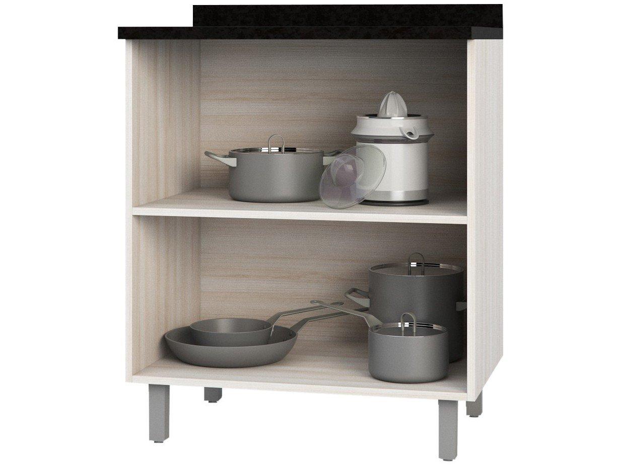 Foto 2 - Balcão de Cozinha Poliman Móveis 2 Portas Luiza - D31000