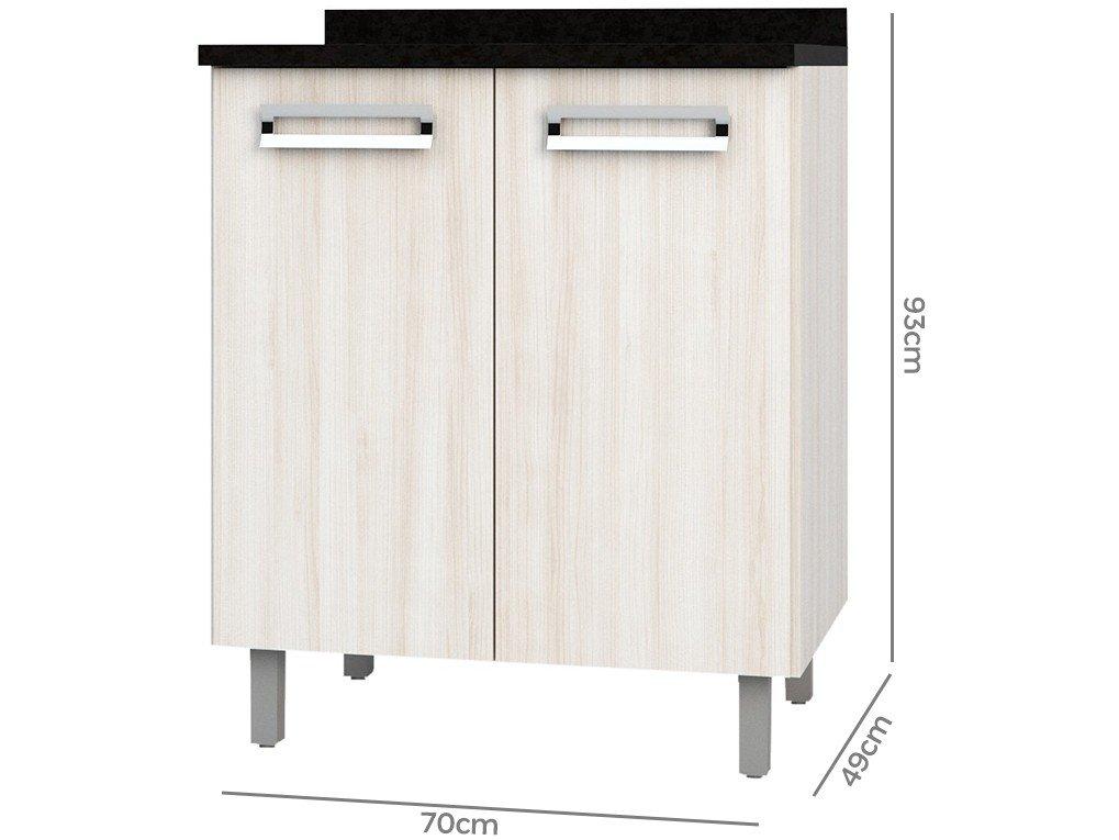 Foto 3 - Balcão de Cozinha Poliman Móveis 2 Portas Luiza - D31000