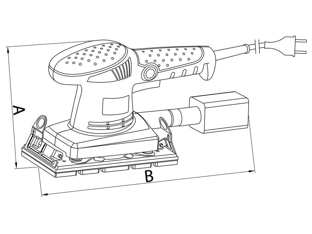 Lixadeira Tramontina Master 42515010 Orbital - Elétrica 200W com Coletor de Pó - 110 V - 1