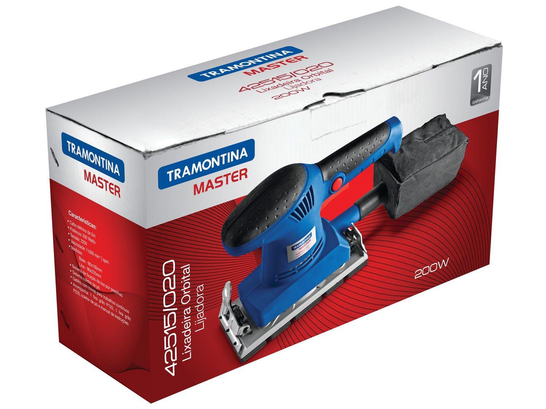 Lixadeira Tramontina Master 42515010 Orbital - Elétrica 200W com Coletor de Pó - 110 V - 2