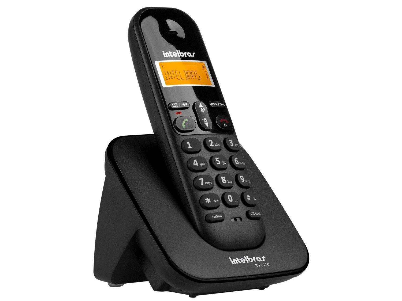 Telefone sem Fio Intelbras TS 3110 com Display luminoso, Identificador de Chamada e Tecnologia DECT 6.0 - Preto - 3