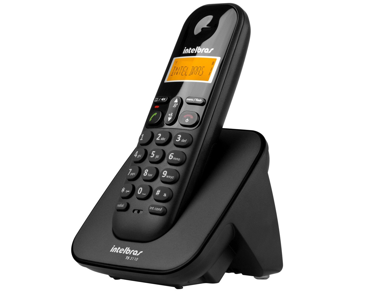 Telefone sem Fio Intelbras TS 3110 com Display luminoso, Identificador de Chamada e Tecnologia DECT 6.0 - Preto - 9