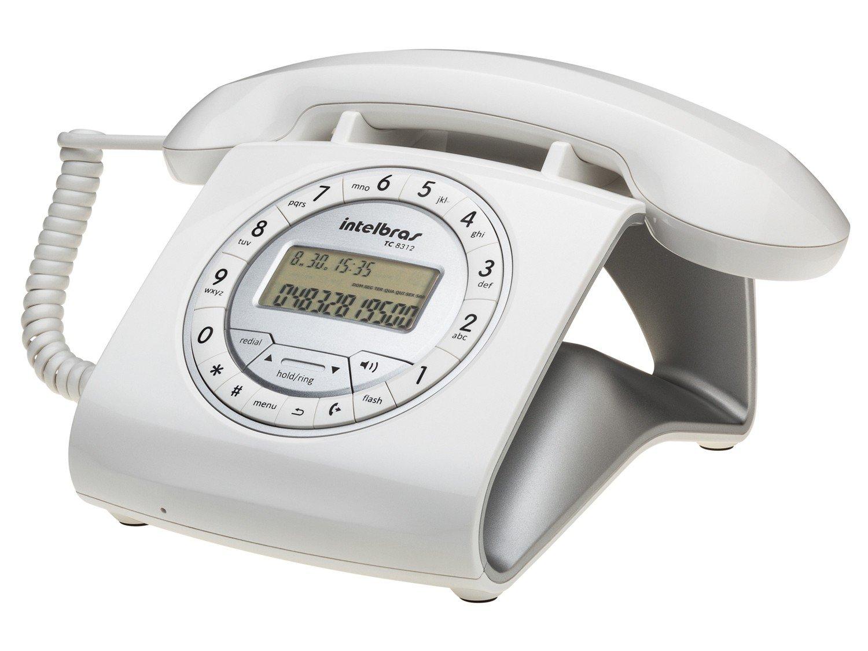 Telefone Com Fio Intelbras TC 8312 - Identificador de Chamada Viva Voz Branco - 4