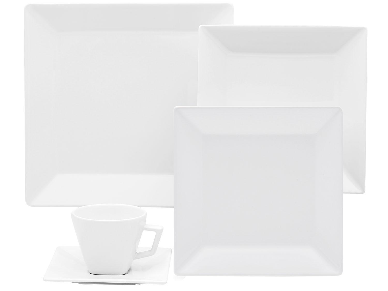 Aparelho de Jantar, Chá e Café Oxford Porcelanas Quartier GM42-2000 - 42 Peças - Branco