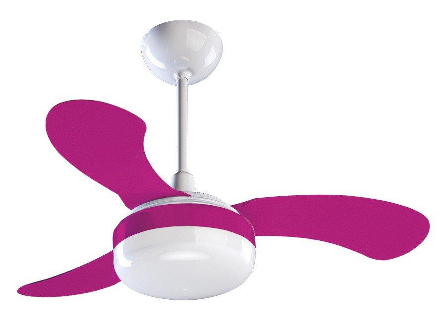 Ventilador de Teto Ventisol Petit 3 Pás - 3 Velocidades Rosa - 110 V