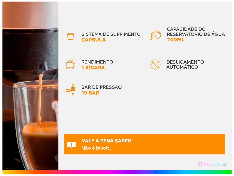 Cafeteira Nespresso Inissia D40 com Kit Boas Vindas - Preta - 110V - 2
