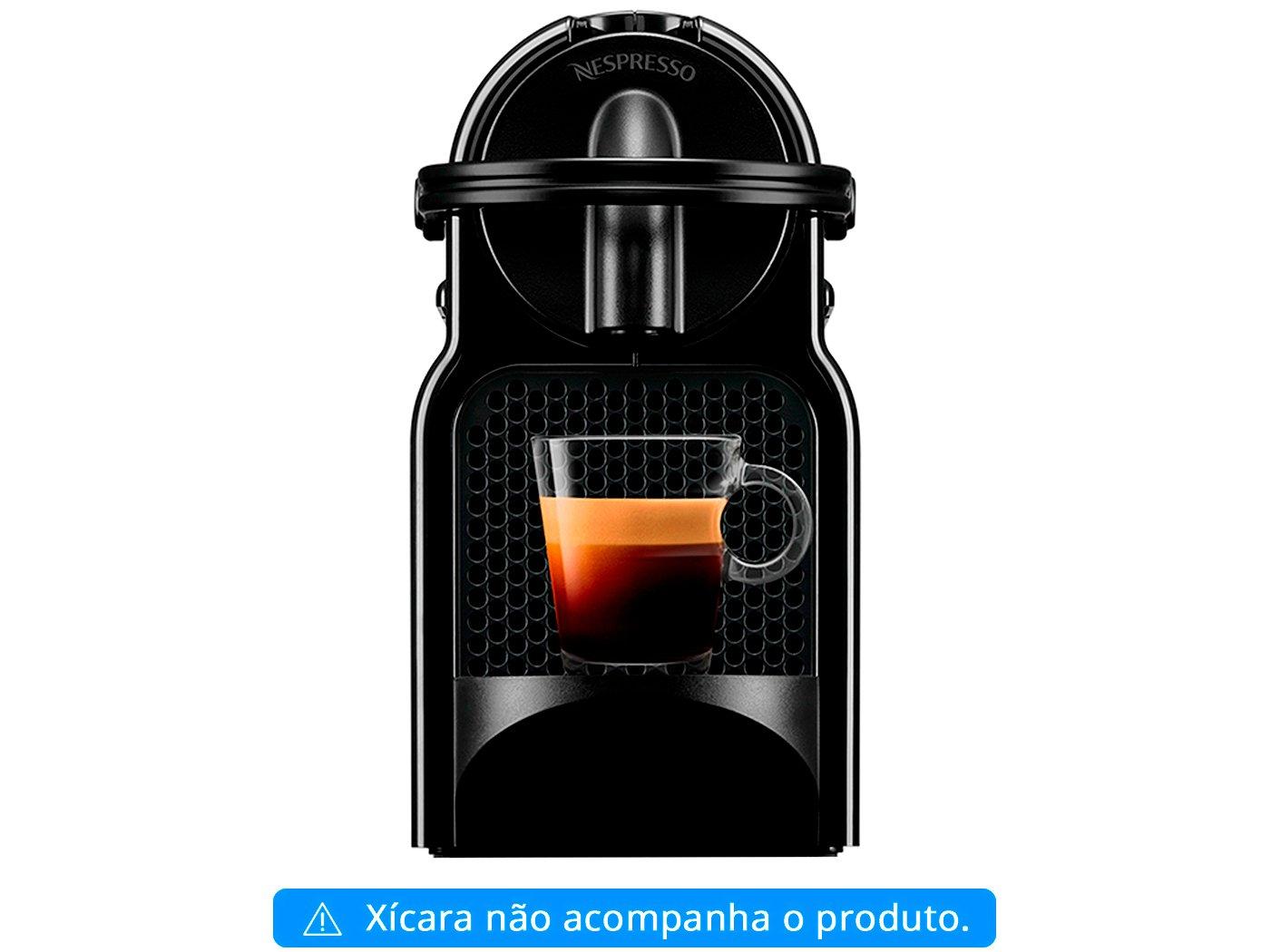 Cafeteira Nespresso Inissia D40 com Kit Boas Vindas - Preta - 110V - 4
