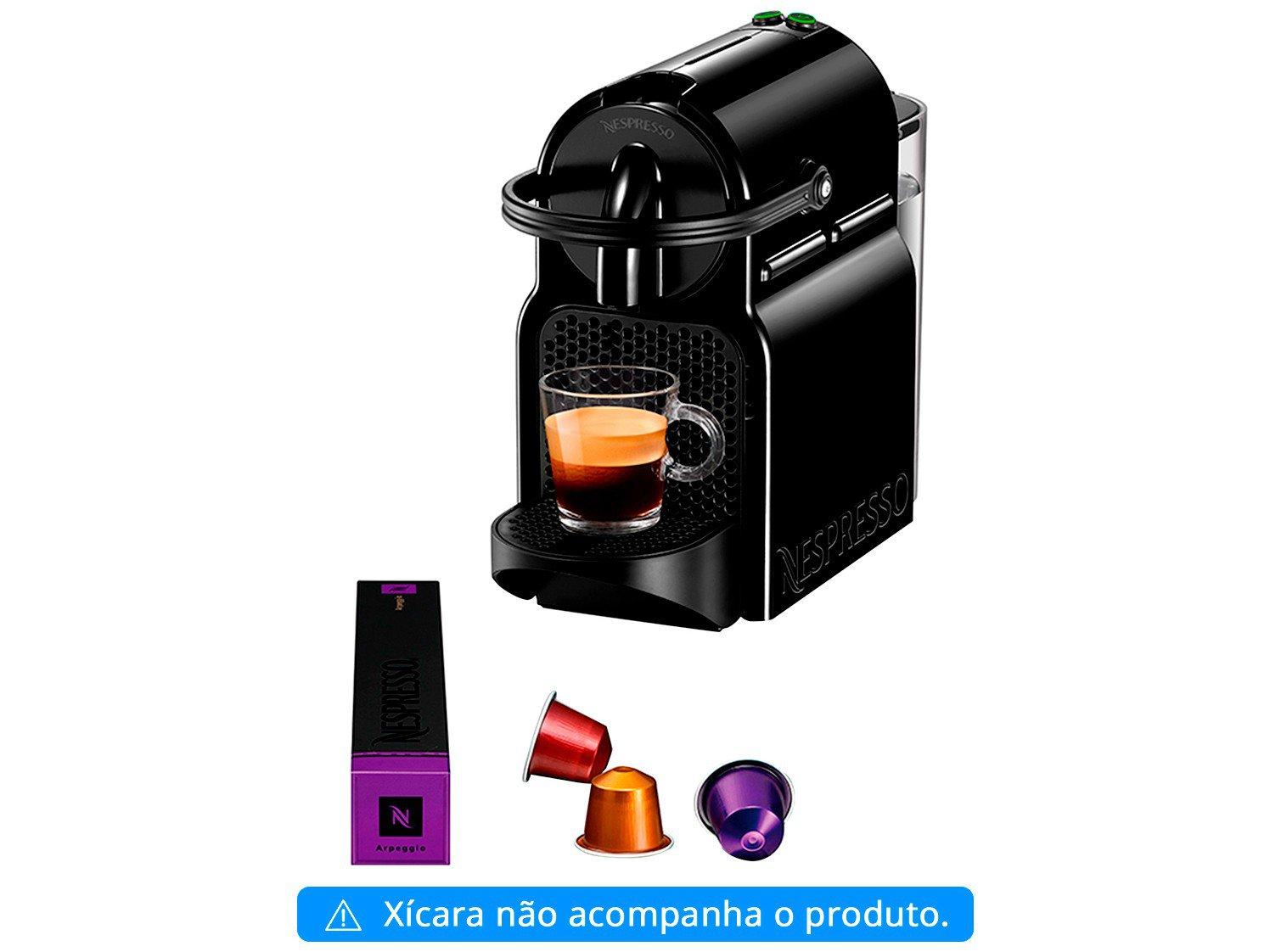 Cafeteira Nespresso Inissia D40 com Kit Boas Vindas - Preta - 110V - 6