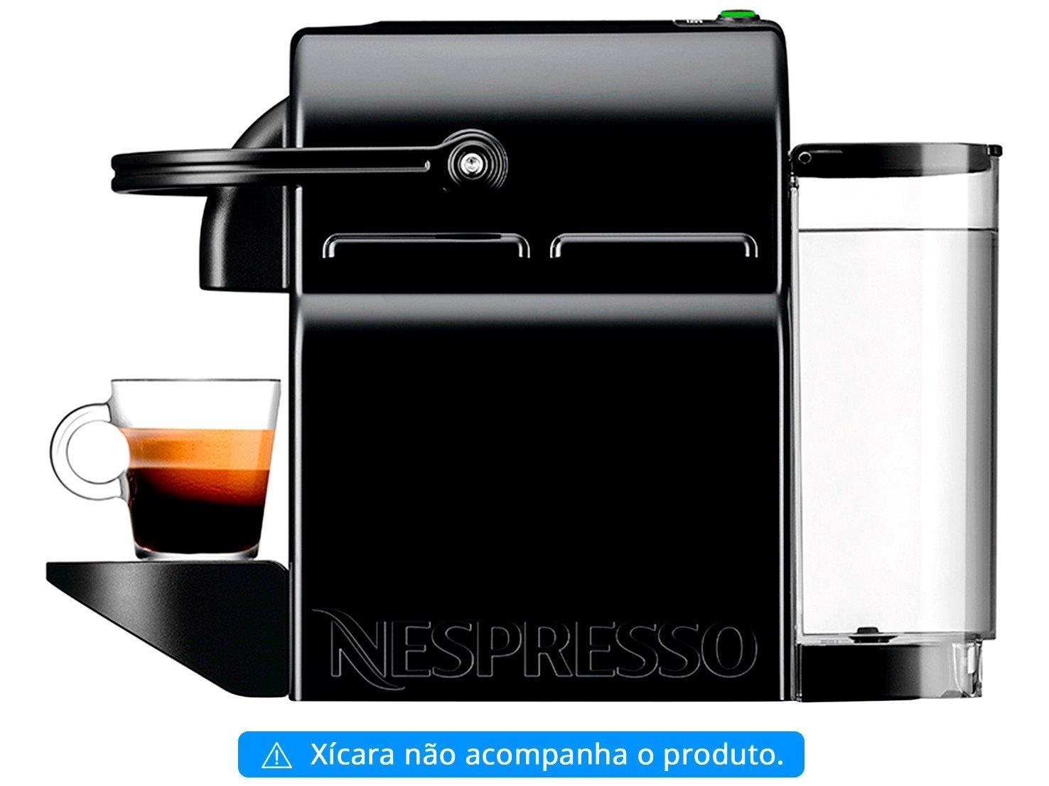 Cafeteira Nespresso Inissia D40 com Kit Boas Vindas - Preta - 110V - 8