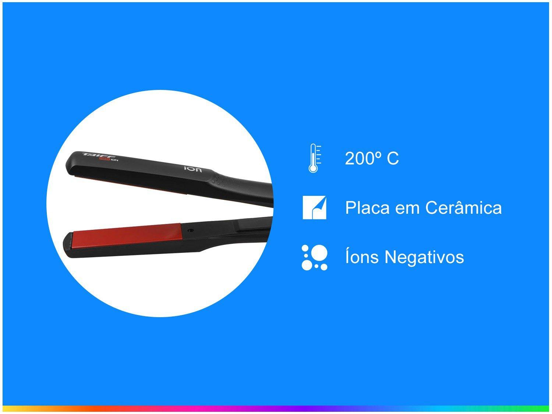 Chapinha/Prancha de Cabelo 200ºC - Taiff Red Íon - Bivolt - 2