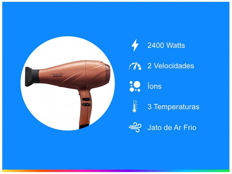 Secador de Cabelo Gama Italy Marula Cobre - 3D Therapy 2400W 2 Velocidades - Bivolt - 2