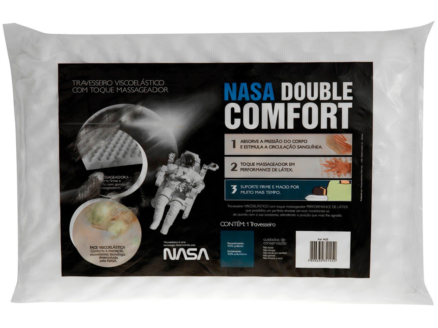 Travesseiro Nasa Fibrasca Viscoelástico - NASA Double Comfort - 0